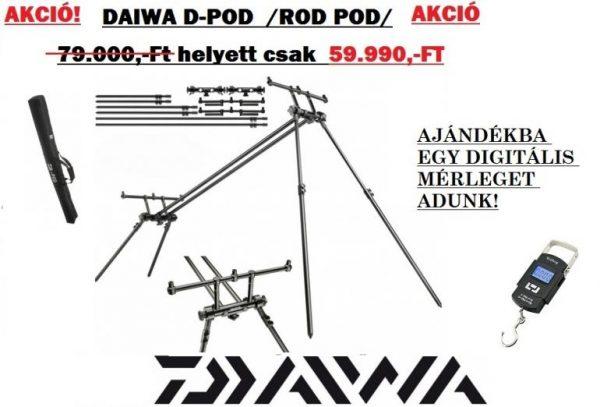 Daiwa D pod /rod-pod/ + ajándék 50Kg teherbírású digitális mérleg